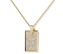 18kt Gelbgoldhalskette mit Diamantanhänger