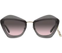 oversized logo-charm sunglasses
