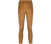 Cropped-Leggings aus Wildleder