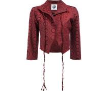 Cropped-Jacke mit abstraktem Print