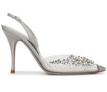 Slingback-Sandalen mit Kristallen