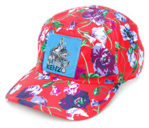 floral print patch cap