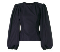 puff sleeve fitted top