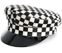 checked sailor hat