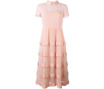 Semi-transparentes Kleid mit gestuftem Design