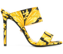 Baroque print sandals