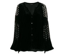 pearl chain sleeve blouse