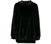 Kapuzenpullover aus Faux Fur