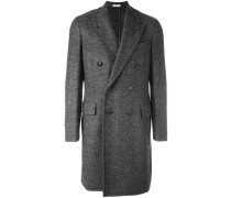 Doppelreihiger Mantel mit steigendem Revers