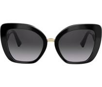 Cat-Eye-Sonnenbrille mit Logo