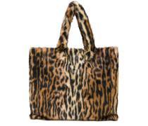 Handtasche mit Leoparden-Print