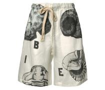 Shorts mit Muschel-Print