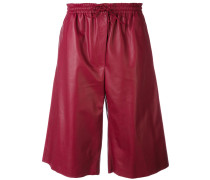 drawstring knee-length shorts - women