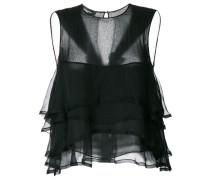 frill-trim sleeveless blouse