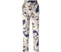 Hose mit Blumen-Print - women - Polyester - 36