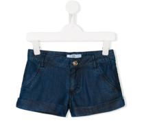 Jeans-Shorts mit geblümten Taschen - kids