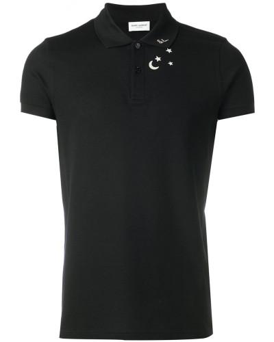 Poloshirt mit Sterne-Print