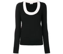 contrast neck jumper