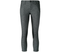 panelled cropped trousers