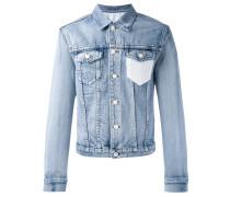Jeansjacke mit gehäkelter Brusttasche - men