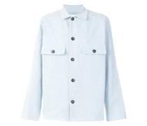 'Two Pocket Garment Dye' Jacke in Hemdoptik