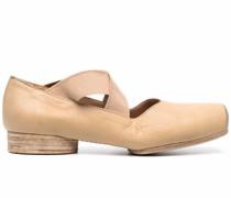 Ballerinas mit eckiger Kappe