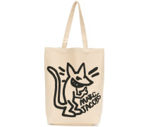 "Canvas-Shopper mit ""Stinky Rat""-Print"