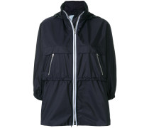 funnel neck nylon jacket