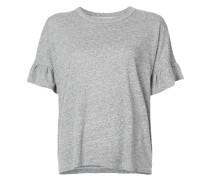 T-Shirt mit gerüschten Ärmeln