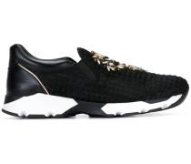 Slip-On-Sneakers mit Swarovski-Kristallen