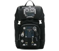 Rucksack mit Roboter-Patch