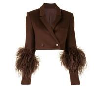 Cropped-Blazer aus Wolle