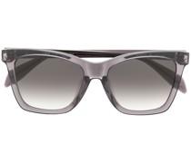 Cat-Eye-Sonnenbrille mit Totenkopf