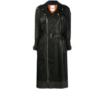 Trenchcoat in Lederoptik