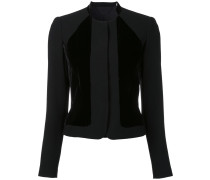 collarless fitted jacket