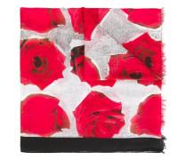 Seidenschal mit Rosen-Print