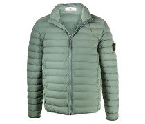 padded zip-up down jacket
