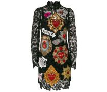 appliqué detail lace dress