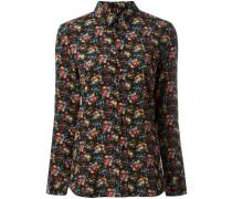 Paris collar floral print shirt