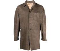Geknöpfte Hemdjacke aus Leder