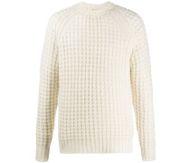 Pullover mit Waffelstrick-Muster