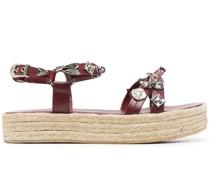 leather strap espadrille sandals