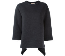 fluted sweatshirt