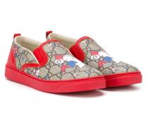 Slip-On-Sneakers mit Monogrammmuster - kids