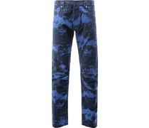 Jeans mit marmoriertem Effekt