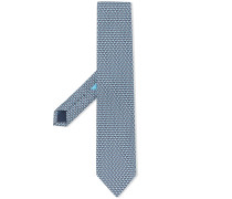 Krawatte mit Schwan-Print