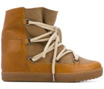 Wedge-Sneakers mit Schnürung
