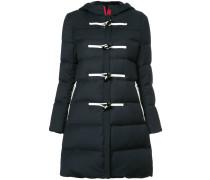 padded hooded toggle jacket