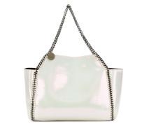 iridescent falabella shopping bag