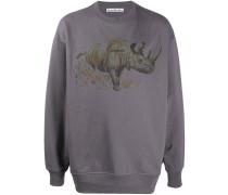 Sweatshirt mit Nashorn-Print